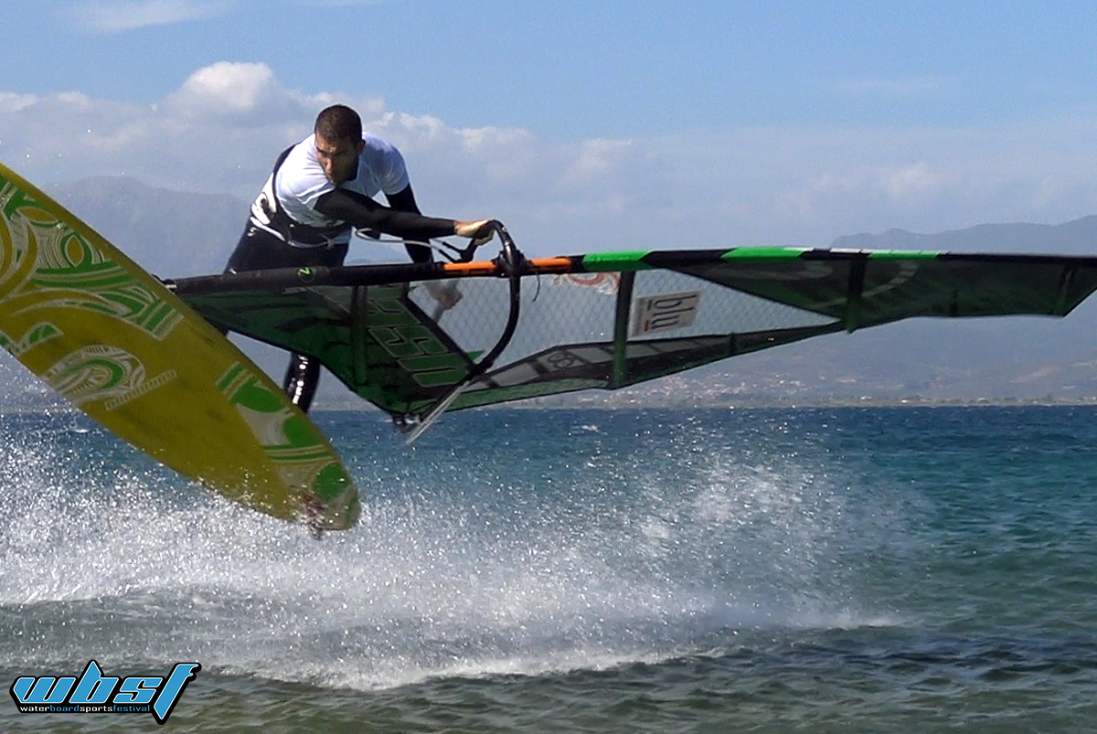 WBSF debut with Greek Windsurf Freestyle tour stop 1 at Drepano